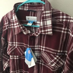 59b7c1381b4 Columbia Shirts | Texas Am Plaid Flannel Shirt | Poshmark